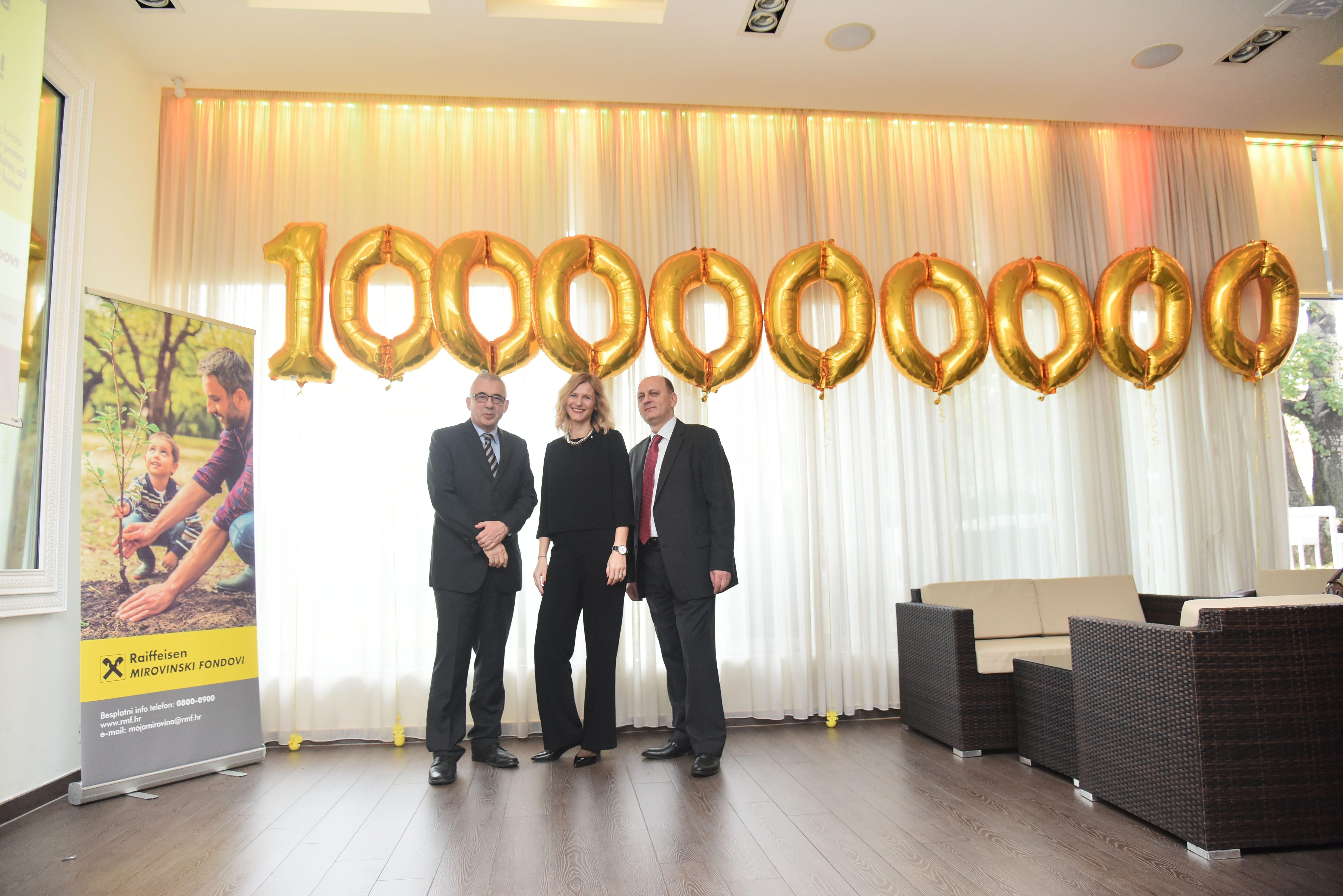 Imovina Raiffeisen dobrovoljnog mirovinskog fonda premašila milijardu kuna