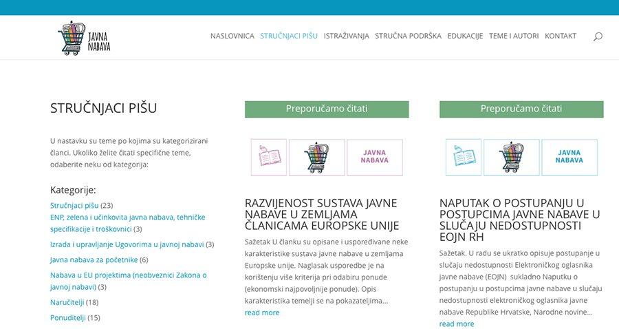 Portal Javna nabava_Web stranica