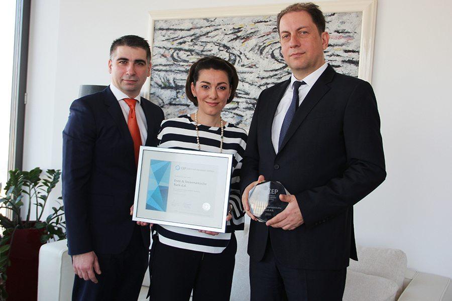 1-Erste - Uručenje Certifikata Poslodavac Partner