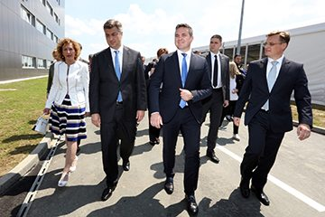 Predsjednik Vlade Andrej Plenković, Marin Pucar, Ljiljana Šapina i Hrvoje Kolarić