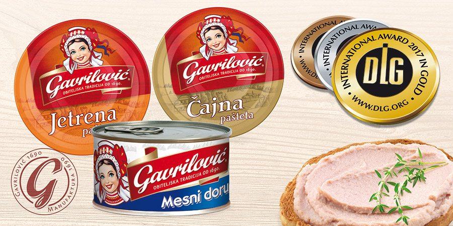 1-Čajna pašteta okitila se zlatnom, Jetrena pašteta srebrnom, a Mesni doručak brončanom medaljom najugledne europske organizacije DLG