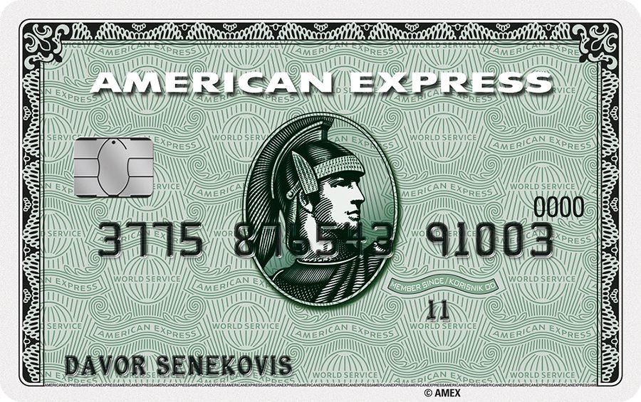 1-American Express green kartica