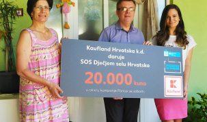1-SOS mama, Zoran Relić(direktor SOS Dječjeg sela Ladimirevci) i Marija Franić(glasnogovornica Kauflanda)