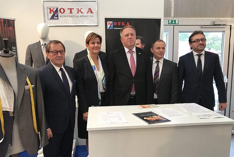 Delegacija na štandu Kotke
