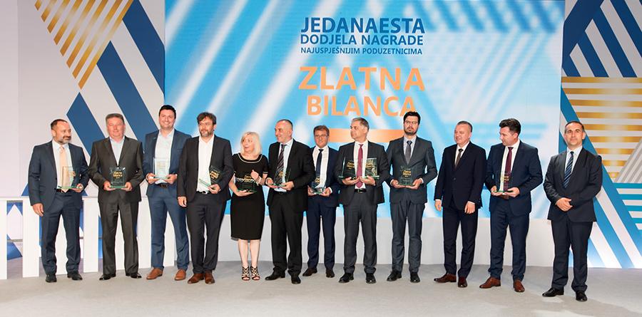 Svi dobitnici nagrada Zlatna bilanca