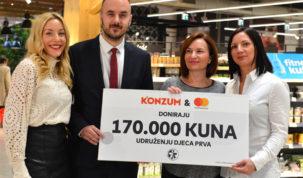 Konzum i Mastercard donirali 340.000 kuna za djecu iz socijalno ugroženih obitelji u Hrvatskoj i Ruandi