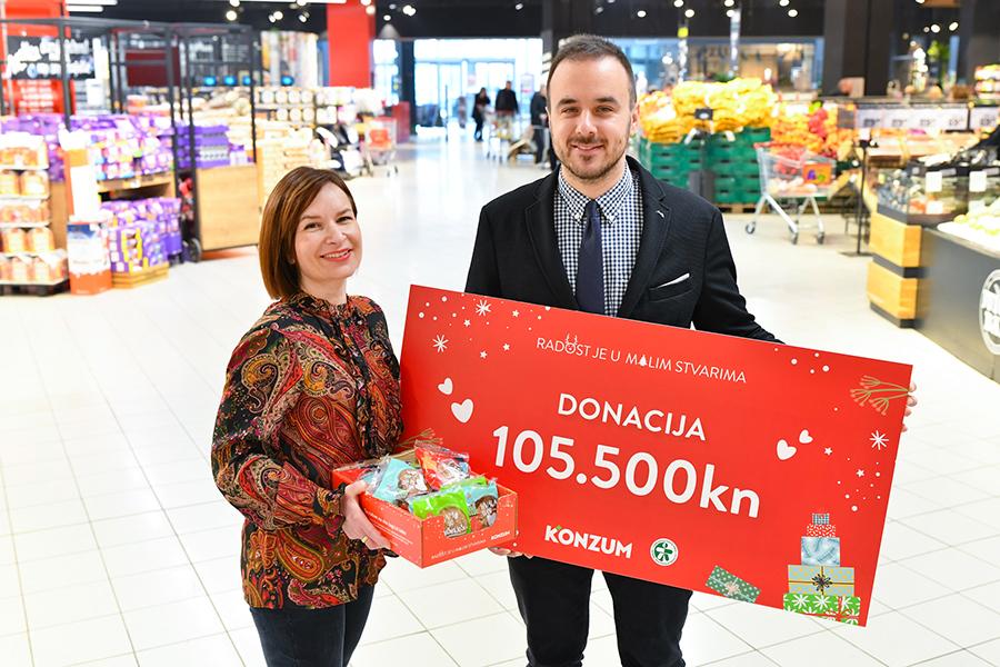 Konzum donirao 105.500 kuna Udruženju Djeca prva