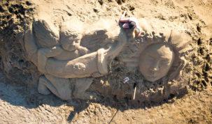 Mitska bića zauzela Rajsku plažu u Loparu i oduševila posjetitelje